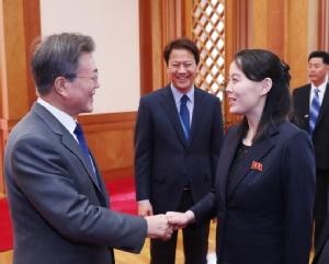 """In Pics : ชื่นมื่น! ผู้นำคิมฝากน้องสาวชวน """"ปธน.เกาหลีใต้"""" จัดประชุมซัมมิตที่เปียงยาง"""