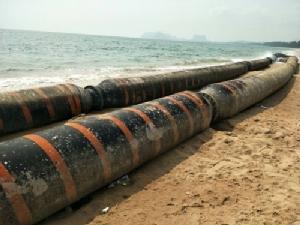 งง! ท่อยาวกว่า 100 เมตรโผล่หาดบางเบิด-ถ้ำธง หวั่นกระทบการเดินเรือของชาวประมง