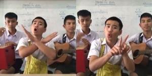 แชร์กระหน่ำ นร.หนุ่มแต่งเพลงให้คนโสด ประชดวาเลนไทน์ (ชมคลิป)