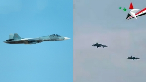 อื้ออึง! Su-57 เครื่องบินรบล่องหนล้ำสมัยใหม่ล่าสุดของรัสเซียร่วมรบครั้งแรก โผล่กลางสมรภูมิซีเรีย (ชมคลิป)