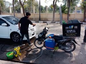 ครูหนุ่มอ่างทองไอเดียเก๋! บริการล้างรถแบบเคลื่อนที่ สร้างรายได้เสริม-ช่วยเด็กด้อยโอกาส