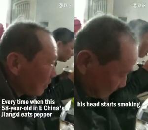 หัวร้อน! แปลกแต่จริงลุงวัย 58 กินพริกไทยทีไรควันออกหัวทุกที [ชมคลิป]
