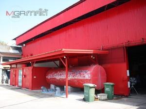 """""""หับ โห้ หิ้น"""" โรงสีแดงตั้งเด่นสะดุดตาบน ถ.นครนอก ย่านแหล่งเที่ยวชมเมืองเก่าสงขลา"""
