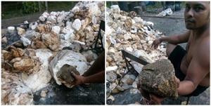 เตือนภัย! ชาวสวนยางหัวหมอ ยัดก้อนหินในขี้ยางพารา