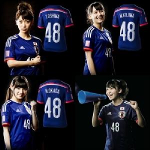 """โมเดลเดียวกัน!! คลิป """"AKB48"""" วงพี่สาว """"BNK48"""" โปรโมทเสื้อทีมชาติญี่ปุ่น"""