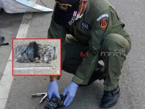 ระทึก! อีโอดีเข้ากู้ระเบิดในกระบอกน้ำ วางข้างกำแพงริมถนนที่สายบุรี