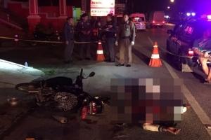 คนร้ายจี้ชิงทรัพย์ ผู้เสียหายฮึดสู้แย่งมีดแทงกันเจ็บทั้ง 2 ฝ่าย ก่อนขับรถหลบหนีแต่เสียหลักล้มดับ