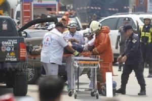 สถาบันการแพทย์ฉุกเฉินแห่งชาติ ร่วมกับ การทางพิเศษแห่งประเทศไทย ฝึกซ้อมแผนช่วยคนเจ็บช่วงสงกรานต์