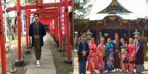 """""""ณเดชน์"""" ใส่ชุดยูกาตะอย่างหล่อพาครอบครัวชมซากุระแถมเยี่ยมญาติที่ญี่ปุ่น"""