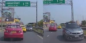 มักง่าย! ขับรถย้อนศร ไม่เกรงใจคนอื่น หวั่นเกิดอุบัติเหตุ (ชมคลิป)