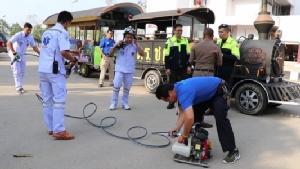 สพฉ ร่วมอปท.เมืองเลยซ้อมแผนช่วยเหลือผู้ป่วยฉุกเฉินรับมือเที่ยวสงกรานต์