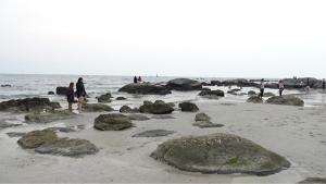 ปีละครั้ง! โขดหินหลายร้อยก้อนโผล่ แห่ถ่ายรูปแน่นหาดหัวหิน