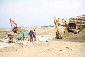 คืบหน้า!! โครงการเสริมทรายชายหาดพัทยา คาดเสร็จตามกำหนด ต.ค.