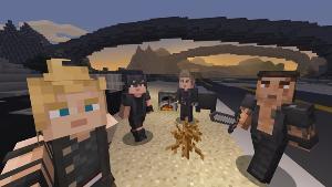 """""""ไฟนอลแฟนตาซี 15"""" โผล่ลงเกมโลกเหลี่ยม Minecraft"""