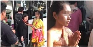 สาวชุดไทยชักสีหน้าระหว่างคล้องพวงมาลัยนักท่องเที่ยวจีน ทำอับอายทั้งประเทศ