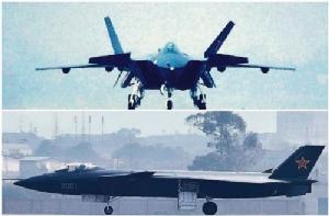 เครื่องบินล่องหน J-20 ของจีนฝึกซ้อมรบในทะเลครั้งแรก