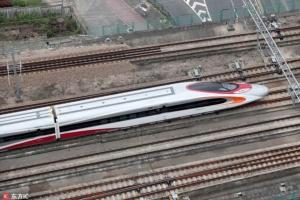 เส้นทางรถไฟความเร็วสูงเชื่อมกว่างโจว-เซินเจิ้น-ฮ่องกง เริ่มทดลองเดินรถแล้ว