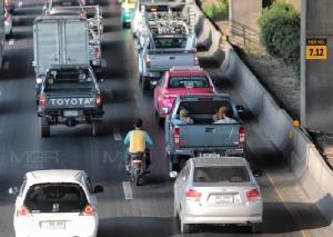 เปิดจริงวันแรก! การจราจรถนนทุกสาย รถติดหนัก