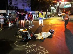 นักเรียน ม.5 ขี่ จยย.กลับบ้านเกิดอุบัติเหตุ รถขับตามหลังเหยียบซ้ำดับคาที่