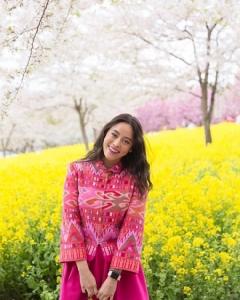 """หลงรักผ้าไทย """"แพรี่พาย"""" สวมผ้าไม่ซ้ำสีไม่ซ้ำจุดเช็กอินทั้งใน และนอกประเทศ"""