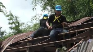 ทหารเร่งซ้อมบ้านฟรีเหยื่อพายุฤดูร้อนถล่ม เผยแค่ 2 เดือนชาวนครพนมบ้านพังกว่า 500 หลัง