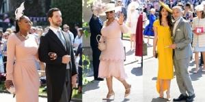 """ชมภาพเหล่าคนดังฮอลลีวูดบินข้ามทวีปเข้าร่วมงานเสกสมรส """"เมแกน-เจ้าชายแฮร์รี"""""""