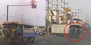 หวิดโศกนาฏกรรม! รถรับ-ส่งนักเรียนขับซิ่งฝ่าไฟแดง กลางสี่แยกกบินทร์บุรี (ชมคลิป)
