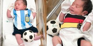 ตามกระแส! รพ.พญาไทศรีราชา จับทารกน้อยใส่ชุดฟุตบอลโลก 2018