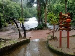 น้ำป่าภูลังกาทะลัก! อุทยานฯ สั่งนักท่องเที่ยวห้ามเล่นน้ำตกตาดขาม