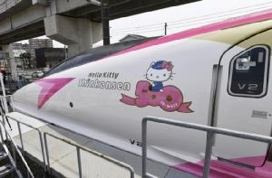 """คาวาอิ! เผยโฉมภายนอก/ภายใน """"ชินคันเซ็น Hello Kitty"""" คันจริง ก่อนเริ่มเปิดให้บริการ 30 มิ.ย.นี้"""