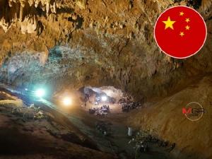 """รัฐบาลจีนส่ง """"นักกู้ภัยในถ้ำ"""" 6 คน พร้อมอุปกรณ์เต็มพิกัด เสริมกำลังหา """"ทีมหมูป่า"""""""