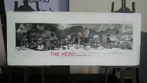 """ศิลปินเชียงราย จรดพู่กันบันทึกประวัติศาสตร์ """"The Hero ถ้ำหลวง"""" แล้ว"""