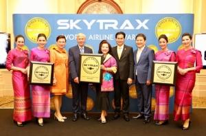 การบินไทยคว้า อันดับ1 สายการบินยอดเยี่ยมถึง 3 รางวัลจากสกายแทรกซ์