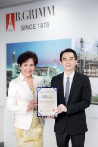 บี.กริม เพาเวอร์  ติดอันดับหุ้นยั่งยืน ESG100 ปี 61