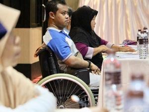 """พมจ.สงขลา จัดประชุมเชิงปฏิบัติการ """"บริหารจัดการภัยพิบัติสำหรับคนพิการ"""""""