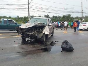 ซ้ำรอยเดิม! เกิดเหตุรถชน ถ.ตรัง-สิเกา บาดเจ็บ 3 ราย จุดเดิมกับที่ตาย 4 ศพ