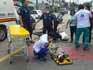 เกิดอุบัติเหตุรถชน 2 รายซ้อน มีผู้บาดเจ็บสาหัส 1 คน อีกหนึ่งรอดเพราะเข็มขัดนิรภัย