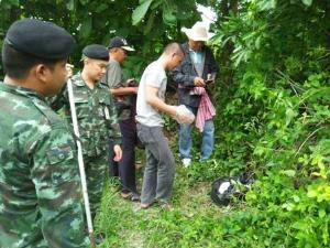"""ทหารค้นเพิ่ม เจอยาบ้าเครือข่าย """"ยี่เซ"""" อีก 4 หมื่นเม็ดซุกสวนลำไยหนุ่มป่าซาง"""