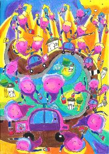 เยาวชนไทย คว้า 3 รางวัล โตโยต้าประกวดภาพวาดระบายสีระดับโลก