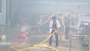 โรงงานนครปฐมแก๊สระเบิด แม่ครัวโดนไฟคลอกตายอนาถ