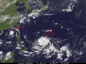 """ต้องรีบดู.. ซูเปอร์ไต้ฝุ่น """"มังคุด"""" ไล่กวด """"บารีจาต"""" พายุใหญ่เข้าทะเลจีนใต้"""