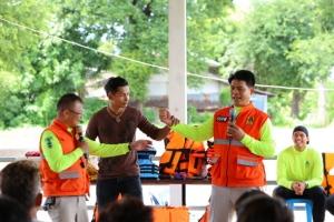 ไม่รอภาครัฐ! ชาวชุมชนริมแม่น้ำมูลซ้อมรับมือภัยน้ำท่วมด้วยตนเอง