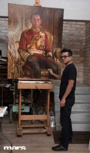 'ในหลวง ร.๙' ในลายเส้นสีและสำนึกของ 'ศักดิ์วุฒิ วิเศษมณี'   ศิลปินผู้เชื่อหมดหัวใจในเรื่อง 'ทำหน้าที่ของตนเองให้ดีที่สุด'