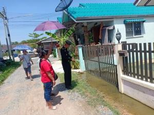 รอง ผอ.รมน.ฉะเชิงเทรา ตรวจโครงการหมู่บ้านมั่นคงบ่อบัว หลังชาวบ้านร้องไม่มีสาธารณูปโภค