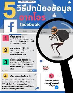 5 วิธีปกป้องข้อมูล จากโจร facebook