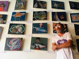 """ศิลปินสตูลเปิดการแสดงภาพวาดชุด """"โล๋กเล"""" สะกิดสังคมให้ตื่นรักษ์และปกป้องธรรมชาติ"""