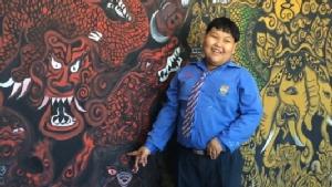 """สุดทึ่ง! """"น้องไตเติ้ล"""" เด็ก 10 ขวบโรงเรียนดังเชียงใหม่วาดภาพศิลปะขั้นเทพ"""