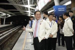"""""""อาคม""""เข้มแผนเผชิญเหตุรถไฟฟ้า  BTS ฝึกซ้อมเน้น แก้ปัญหารวดเร็ว"""