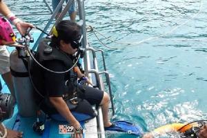 """""""วีลแชร์ สคูบ้า"""" พาผู้พิการสัมผัสโลกใต้น้ำ"""