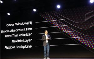 """Samsung ให้ดูนิดเดียว """"สมาร์ทโฟนพับเก็บได้"""""""